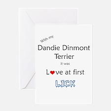 Dandie Lick Greeting Card
