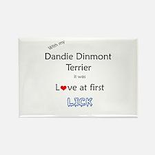 Dandie Lick Rectangle Magnet
