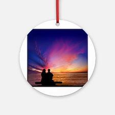 Romantic Sunset Round Ornament