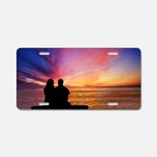 Romantic Sunset Aluminum License Plate