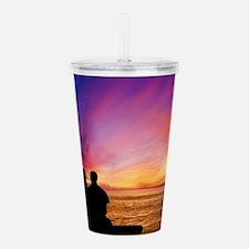 Romantic Sunset Acrylic Double-wall Tumbler