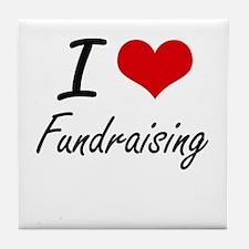 I love Fundraising Tile Coaster