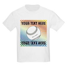 Personalized Softball Kids Light T-Shirt