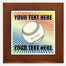 Personalized Softball Framed Tile