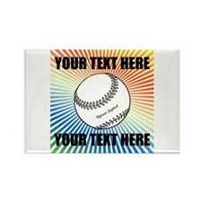 Personalized Softball Rectangle Magnet