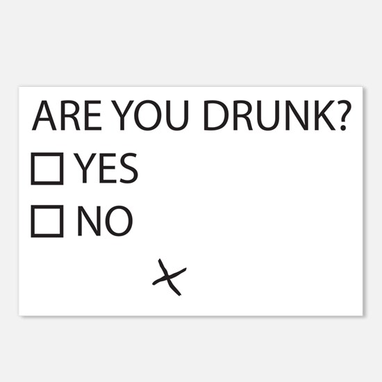 Are You Drunk? Postcards (Package of 8)