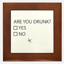 Are You Drunk? Framed Tile