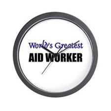 Worlds Greatest AID WORKER Wall Clock