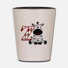 Z is for Zebra Shot Glass