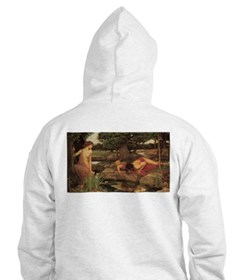 Echo and Narcissus by Waterhouse Hoodie