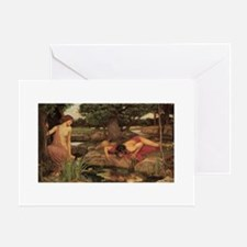 Echo and Narcissus by Waterhouse Greeting Card