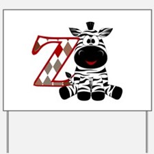 Z is for Zebra Yard Sign