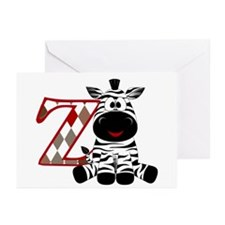 Z Is For Zebra Greeting Cards