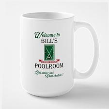 BILL'S POOLROOM Mugs