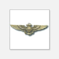 "Cute Marine naval aviator Square Sticker 3"" x 3"""