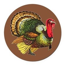 Cute Thanksgiving day Round Car Magnet