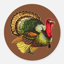 Cute Gobble gobble day Round Car Magnet