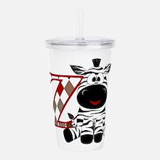 Z is for Zebra Acrylic Double-wall Tumbler