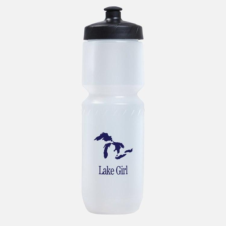 Cute Lake girl Sports Bottle
