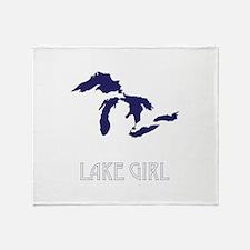 Cute Lake michigan Throw Blanket