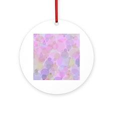 Pink Bubbles Round Ornament