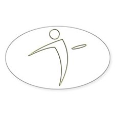 Nano Disc Golf Sticker (oval)