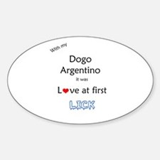 Dogo Lick Oval Decal