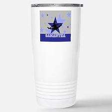 Blue and Gray Cheerleader Travel Mug