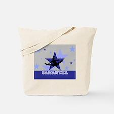 Blue and Gray Cheerleader Tote Bag