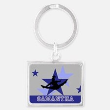 Blue and Gray Cheerleader Keychains