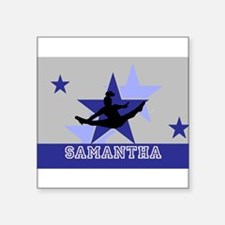 Blue and Gray Cheerleader Sticker
