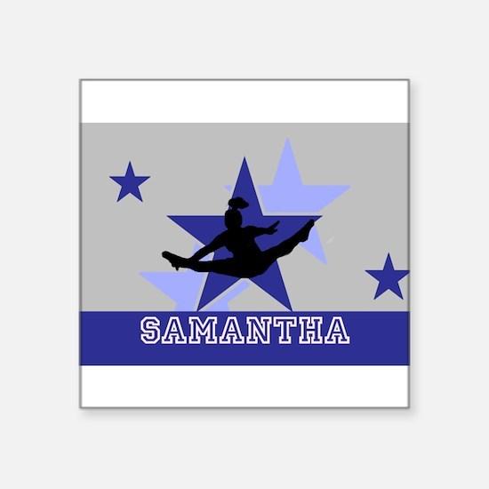Blue and Gray Cheerleader Sticker