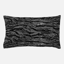 Gray Striped Camo Pillow Case