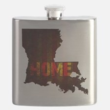 LOUISIANA HOME vintage two Flask