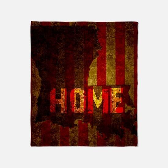 LOUISIANA HOME vintage one Throw Blanket
