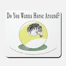 Horse Around 9 Ball Billiards Mousepad