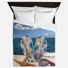 Summer Beach Vacation Queen Duvet