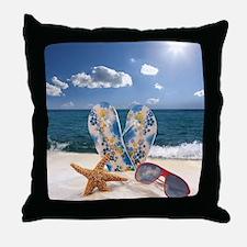 Summer Beach Vacation Throw Pillow