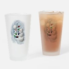 Volleyball Snowman xmas Drinking Glass