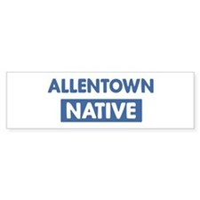 ALLENTOWN native Bumper Bumper Sticker