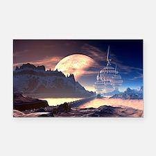 Alien Planet Rectangle Car Magnet