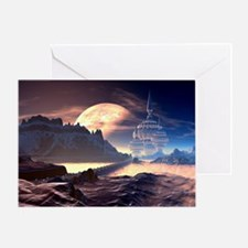 Alien Planet Greeting Card