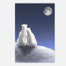 Polar Bears by Moonlight Postcards (Package of 8)