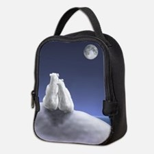Polar Bears by Moonlight Neoprene Lunch Bag