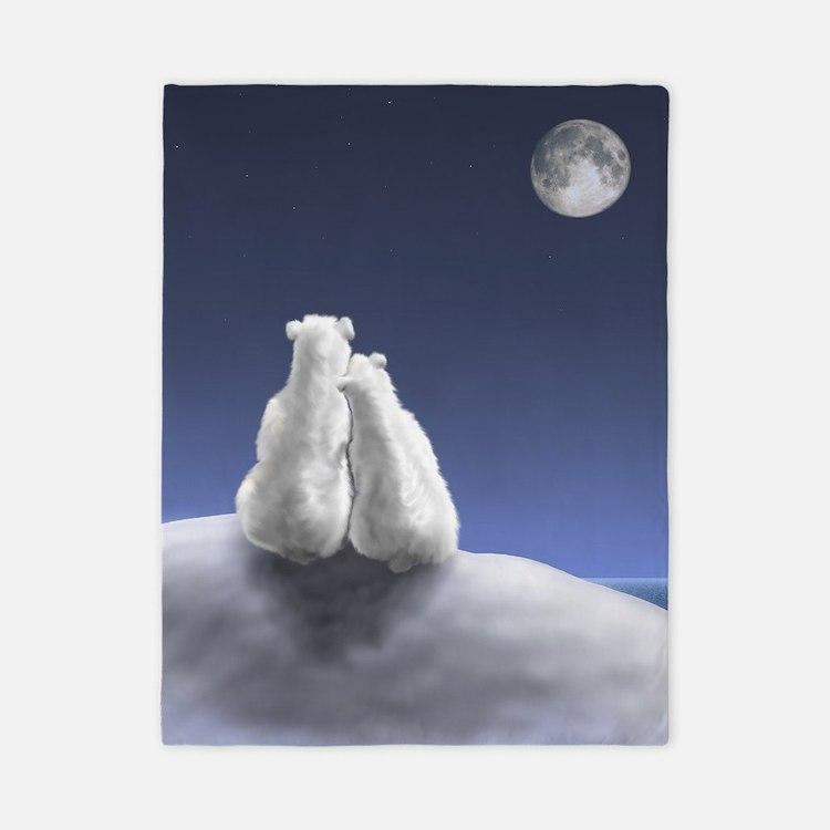 Polar Bears by Moonlight Twin Duvet