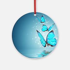 Magic Butterflies Round Ornament
