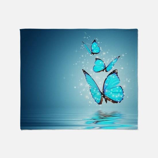 Magic Butterflies Throw Blanket