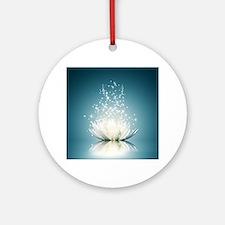 White Lotus Magic Round Ornament