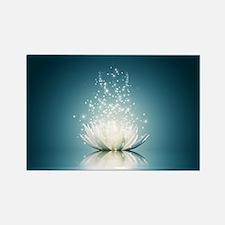 White Lotus Magic Rectangle Magnet