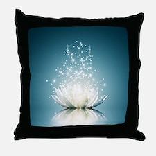 White Lotus Magic Throw Pillow